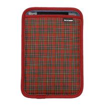 Royal Stewart Red, Blue, and Green Tartan iPad Mini Sleeve