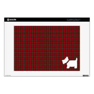 Royal Stewart Red Tartan Plaid with Scottie Dog Decal For Laptop