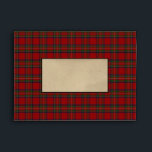 """Royal Stewart Scottish Tartan Plaid Coordinating Envelope<br><div class=""""desc"""">A coordinating envelope in Royal Stewart or Stuart Clan Scottish tartan plaid. This popular tartan sett is predominantly red and green in color. I can provide envelopes in any tartan of your choice to match with any of my wedding stationery collections. Note to associates: all rf IDs have been removed...</div>"""