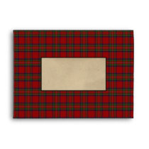 Royal Stewart Scottish Tartan Plaid Coordinating Envelope
