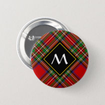 Royal Stewart Tartan Button