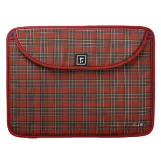 Royal Stewart Tartan Classic Red Plaid Monogram Sleeve For MacBook Pro