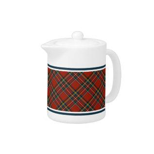 Royal Stewart Tartan Classic Red Plaid Teapot at Zazzle