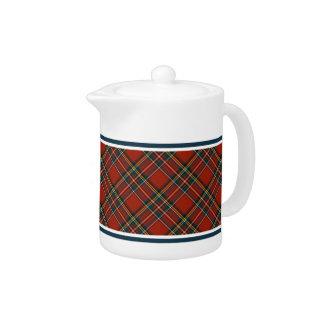 Royal Stewart Tartan Classic Red Plaid Teapot