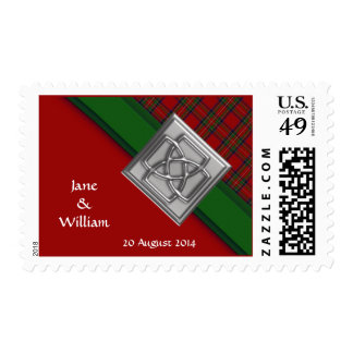 Royal Stewart Tartan Corner Personalized Wedding Postage