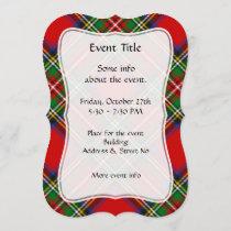 Royal Stewart Tartan Invitation