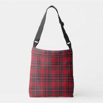 Royal Stewart Tartan Pattern Crossbody Bag