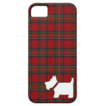 Royal Stewart Tartan Pattern with Scottie Dog Case iPhone 5 Covers