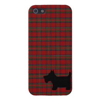 Royal Stewart Tartan Pattern with Scottie Dog Case iPhone 5 Cover