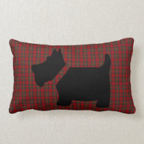 Royal Stewart Tartan Plaid and Scottie Dog Pillow