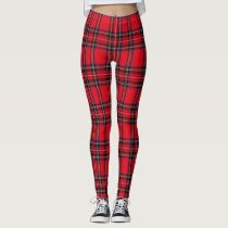 Royal Stewart tartan plaid Leggings