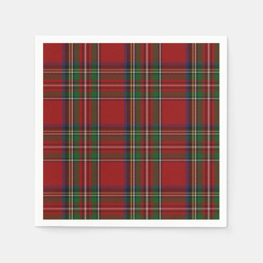 Royal Stewart Tartan Plaid Paper Napkins