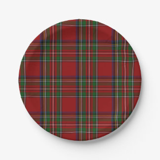 Royal Stewart Tartan Plaid Paper Plate