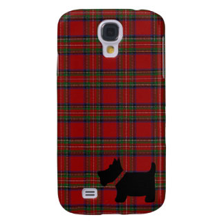 Royal Stewart Tartan Plaid Pattern and Scottie Dog Samsung Galaxy S4 Cover