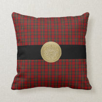 Royal Stewart Tartan Plaid Pillow with Celtic Knot
