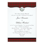 Royal Stewart Tartan Plaid & Thistle Wedding Invitation
