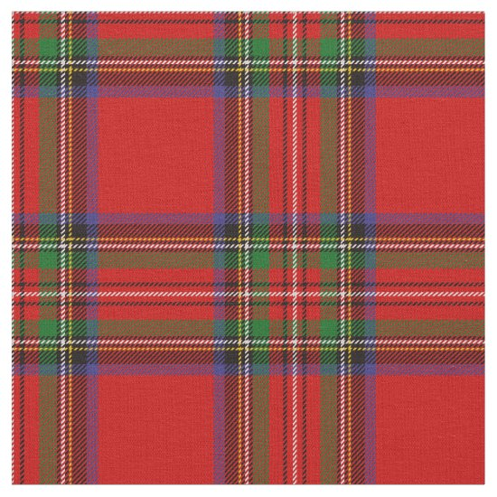 Royal Stewart Tartan Print Fabric
