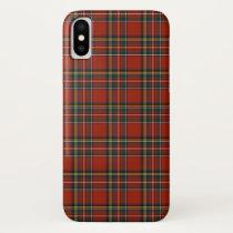 Royal Stewart Tartan Red Plaid Pattern iPhone XS Case