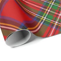 Royal Stewart Tartan Rotated Wrapping Paper