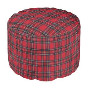 Royal Stewart Tartan Round Pouf