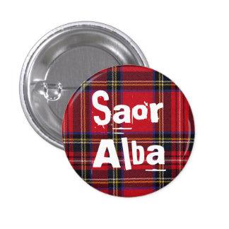 Royal Stewart Tartan Saor Alba Scotland Pinback Button