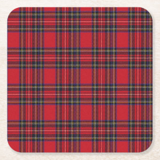 Royal Stewart Tartan Square Paper Coaster