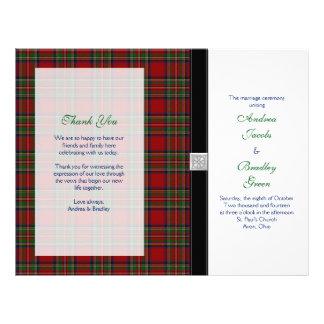Royal Stewart Tartan Wedding Program Cover Customized Letterhead