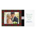 Royal Stewart Tartan Wedding Thank You Photo Card