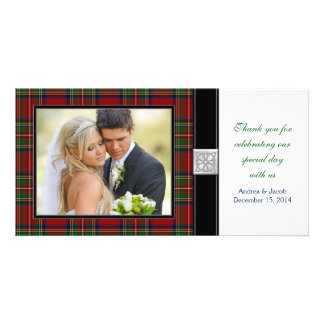 Royal Stewart Tartan Wedding Thank You Photo Card