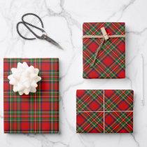 Royal Stewart Tartan Wrapping Paper Sheets