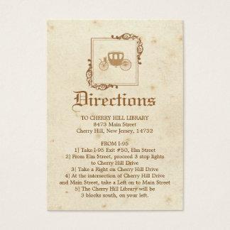 Royal Storybook - Directions Card