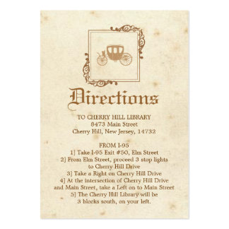 Royal Storybook - Directions Card Business Cards