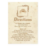 Royal Storybook - Directions Card Large Business Card