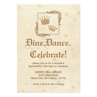 Royal Storybook - Reception Card Business Card Templates