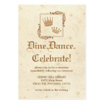 Royal Storybook - Reception Card Large Business Card