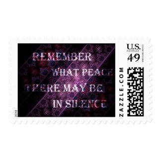 Royal Stripe Desiderata Poem Excerpt Stamp