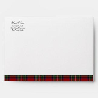 Royal Stuart Tartan A-7 Envelope