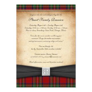 "Royal Stuart Tartan Family Reunion Invitation 5"" X 7"" Invitation Card"