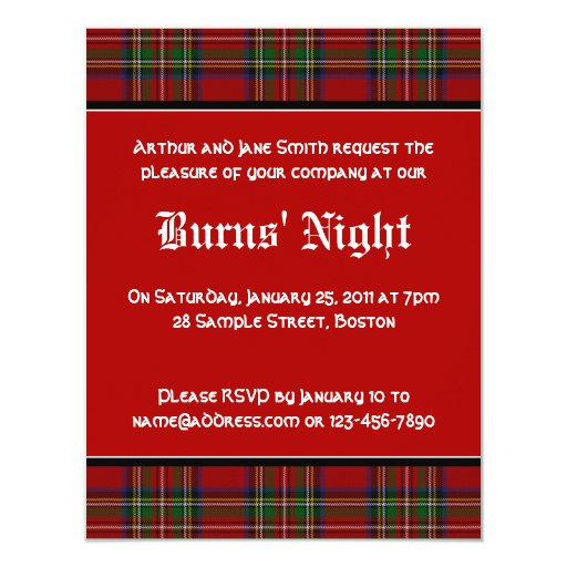 %name Top Result 60 Luxury Burns Night Menu Template