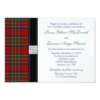"Royal Stuart Tartan Wedding Invitation Reception 5"" X 7"" Invitation Card"