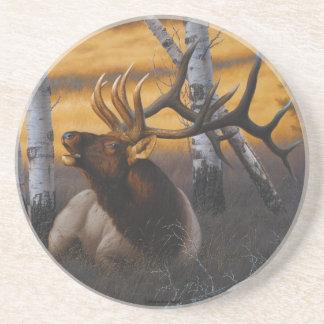 """""""Royal Summons"""" Elk Drink Coaster"""
