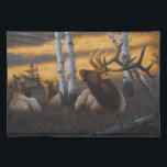 """Royal Summons"" Elk Place Mat<br><div class=""desc"">Original artwork by Tom Mansanarez of a bull elk resting peacefully.</div>"