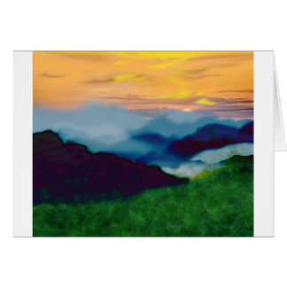 Royal Sunset Card