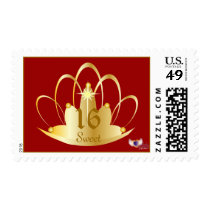 Royal Sweet Sixteen Tiara Postage-Customize Postage