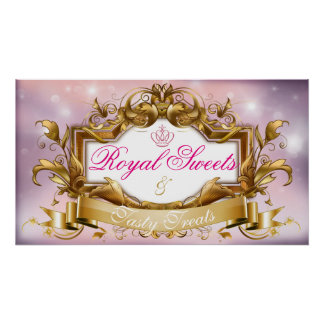 Royal Sweets &Tasty Treats Pink Baby Shower Sign