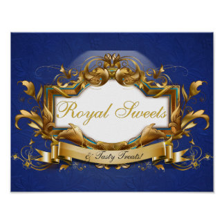 Royal Sweets & Treats Elegant Candy Buffet Sign