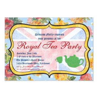 """Royal Tea Party Party Invitation 5"""" X 7"""" Invitation Card"""