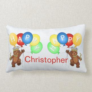 Royal Teady Bears 3rd Birthday Lumbar Pillow