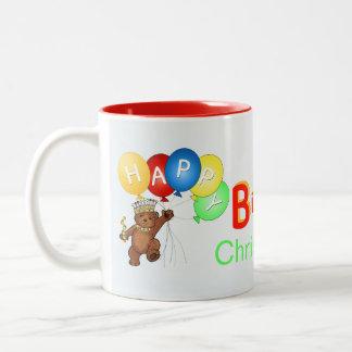 Royal Teddy Bear 1st Birthday Two-Tone Coffee Mug