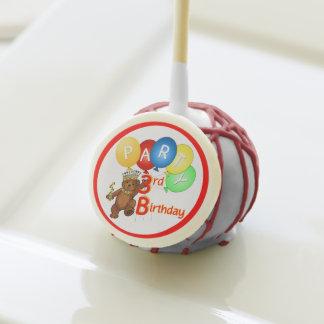 Royal Teddy Bear 3rd Birthday Party Cake Pops